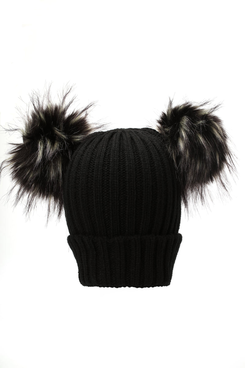 Knitted Up Beanie - Black