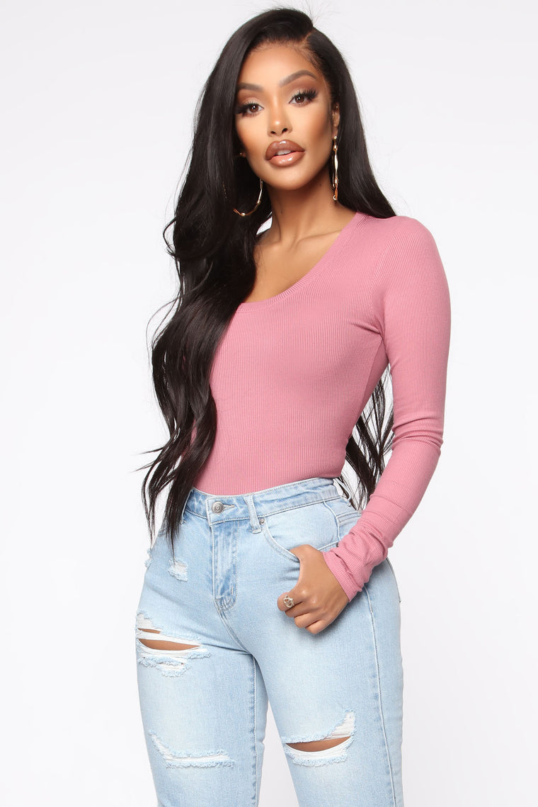 Christina Scoop Neck Long Sleeve Top   Pink by Fashion Nova