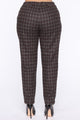 About That Plaid Life Pant - Charcoal