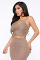 Knit Down 3 Piece Sweater Set - Mocha