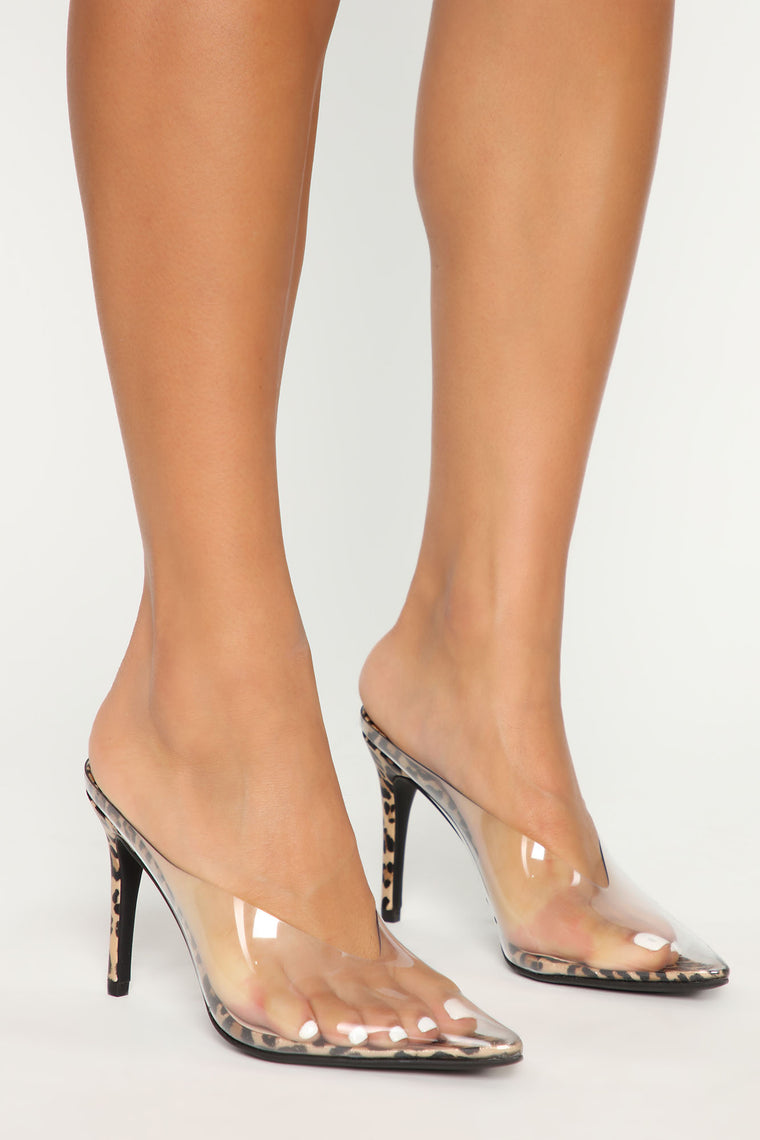 Where My Girls At Heels - Gold Leopard