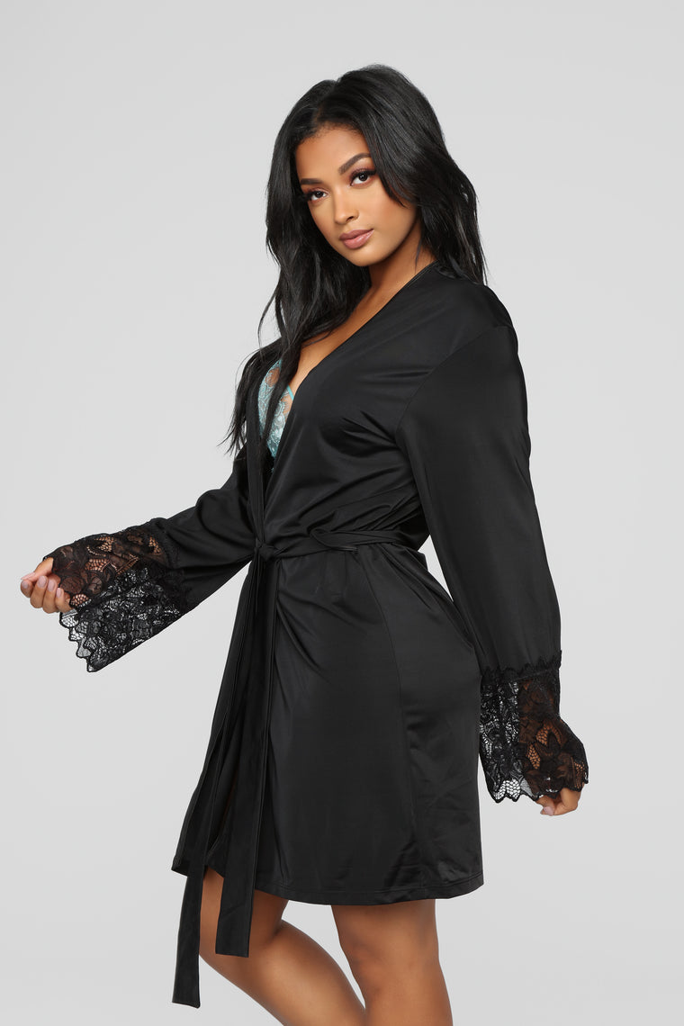 Morning Coffee Robe - Black