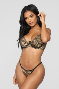 Your Desire G String Panty - Leopard