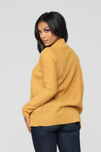 Moments After Cardigan - Mustard Angle 6