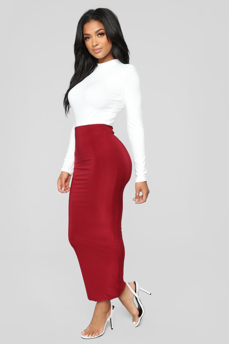 Across The Universe Skirt - Wine