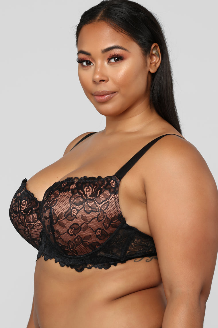 All The More Bra Set - Black/Multi