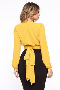Little White Lies Top - Mustard