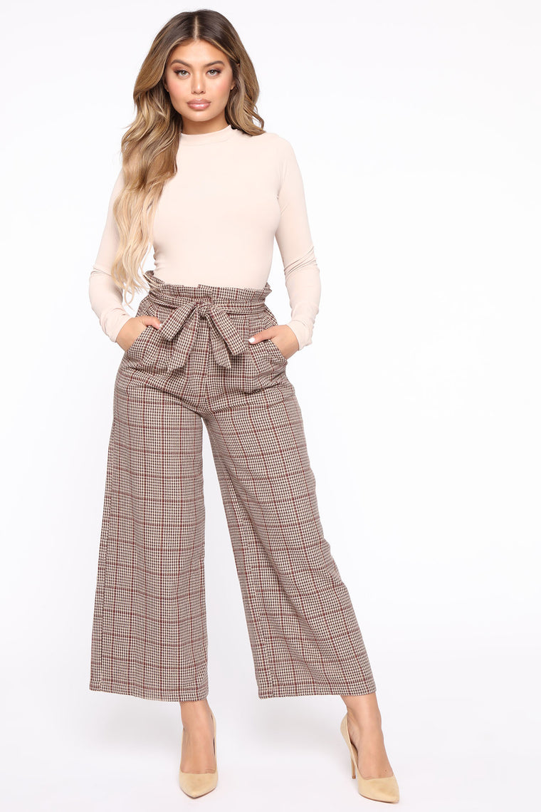 You In My Business Paper Bag Waist Pant   Brown by Fashion Nova