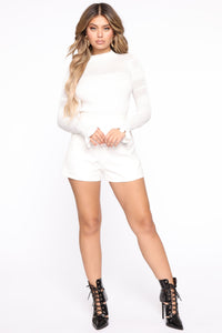 Kiss Me Softly Ribbed Sweater - Ivory Angle 2
