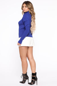MaryAnne Puff Sleeve Sweater - Royal
