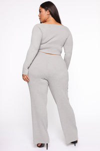 Loving You More Pant Sweater Set  - Heather Grey Angle 5