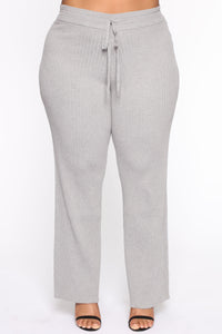 Loving You More Pant Sweater Set  - Heather Grey Angle 6