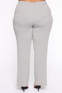 Loving You More Pant Sweater Set  - Heather Grey Angle 8