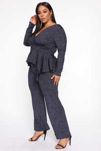 Love On You Pant Set - Navy Angle 4