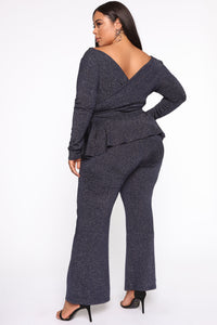 Love On You Pant Set - Navy Angle 2