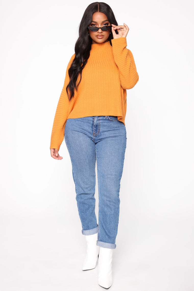 Feeling Nice And Cozy Sweater - Mustard