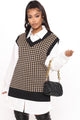 Invested In You Sweater Vest - Black/combo