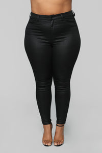 The Full Package High Rise Skinny Jeans - Black