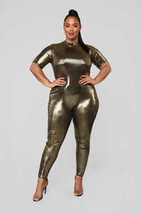 Dripping In Gold Jumpsuit - Gold Angle 1