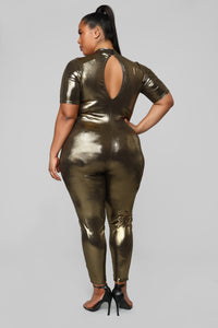 Dripping In Gold Jumpsuit - Gold Angle 4
