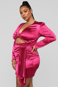 Twenty Fun Satin Dress - Pink
