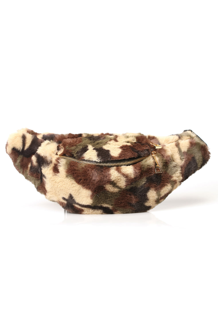 2 Fur The Show Fanny Pack   Camo by Fashion Nova