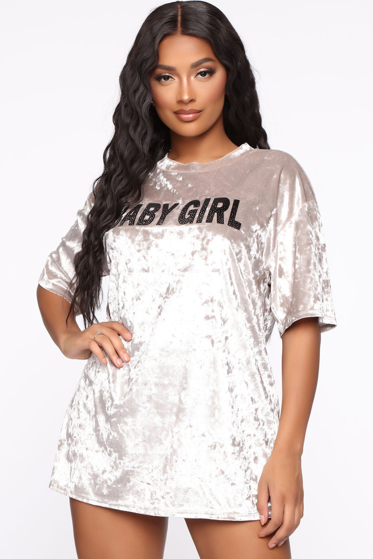 Crushing Hearts Tunic Top - Silver