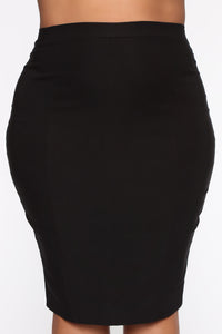 Just For The Record Skirt - Black Angle 2