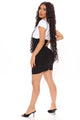 All Work No Play Corset Mini Skirt - Black