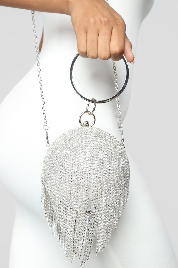 Ball Of A Time Evening Clutch - Silver