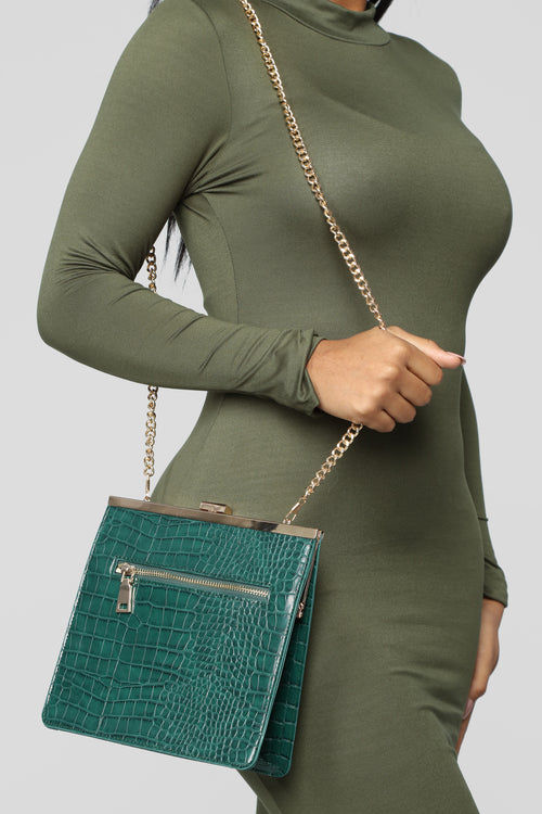 """Worthy Of It"" Crossbody - Green"