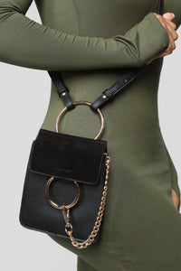 """Hangin' Around You"" Crossbody - Black Angle 3"
