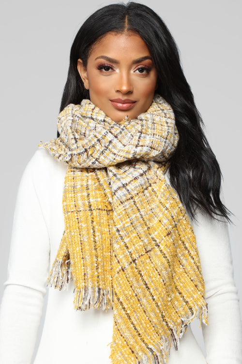 Posted A Tweed Scarf - Yellow