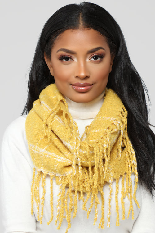 Loving You For Infinity Scarf - Mustard