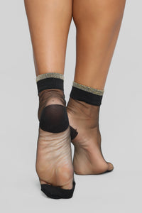 Just Me And The Crew Socks - Black/Gold