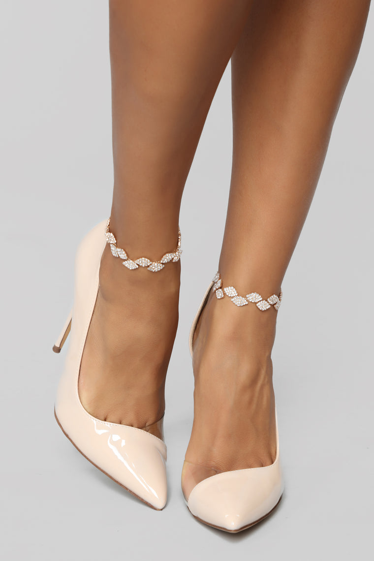 Are You Leafing Anklet - Gold