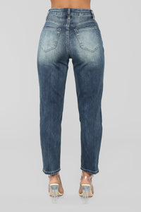 Summer Nights High Rise Distressed Jeans - Vintage Wash