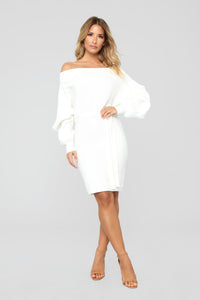 Ryleigh Off Shoulder Dress - Ivory