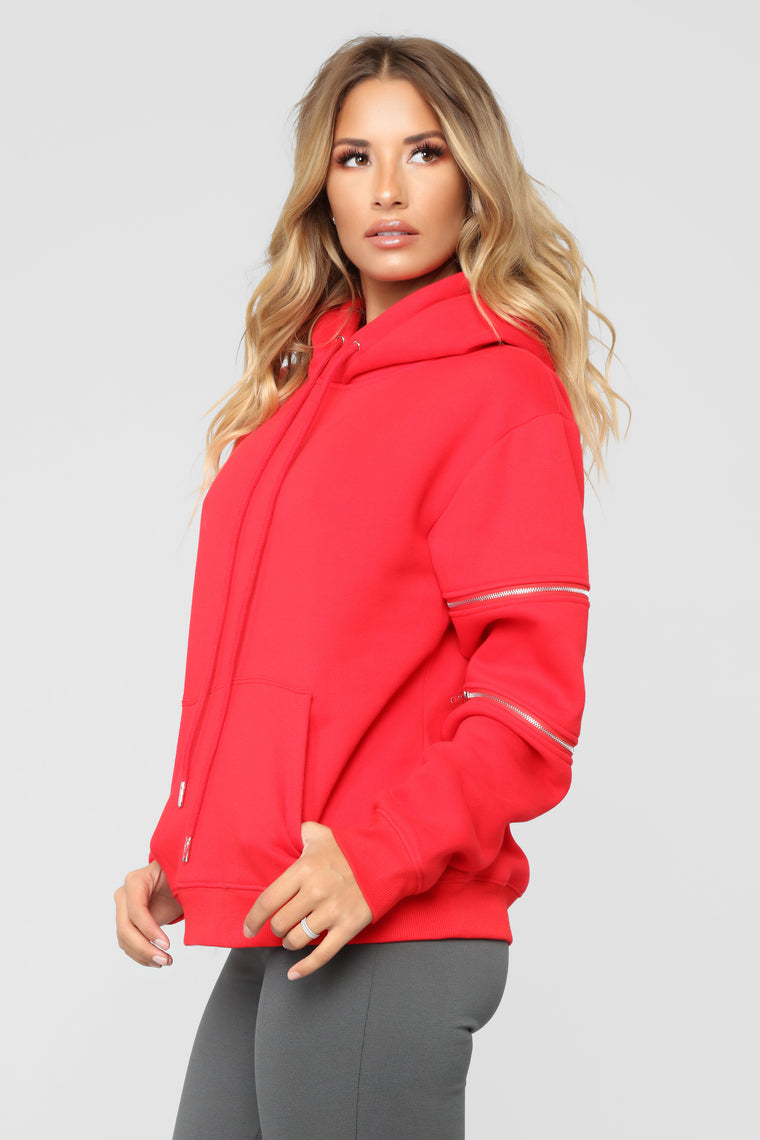 You're So Edgy Hoodie - Red