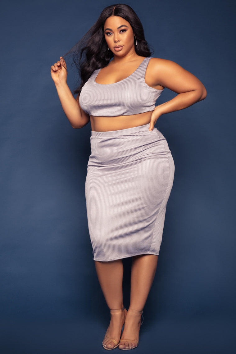 Nora Skirt Set - Grey