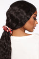 Arianna Silky Scrunchie - Red