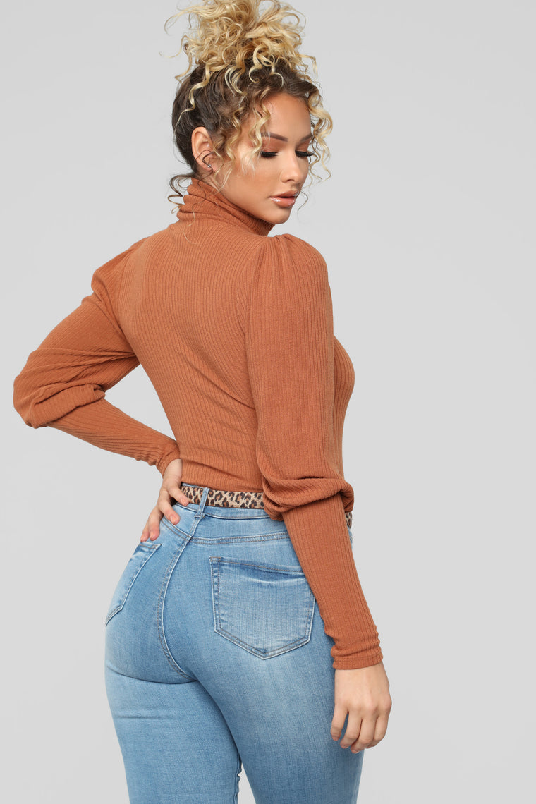 Thinking About You Bodysuit - Rust