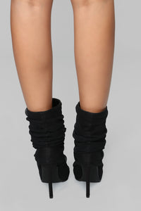 You Deserve It Heeled Bootie - Black