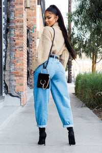 Daydreaming High Rise Mom Jeans - Medium Wash Angle 2