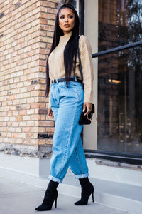 Daydreaming High Rise Mom Jeans - Medium Wash Angle 3