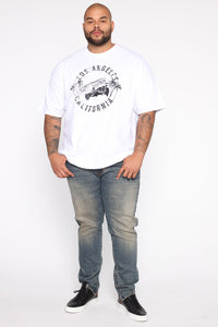 Low Rider Short Sleeve Tee - White/Black Angle 8