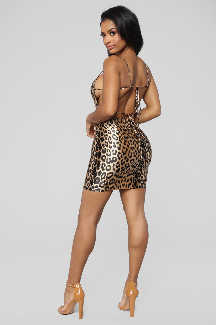 Fashion Slayer Mini Dress - Leopard