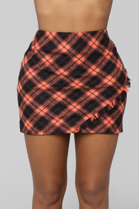 Visiting In Town Plaid Skirt - Multi