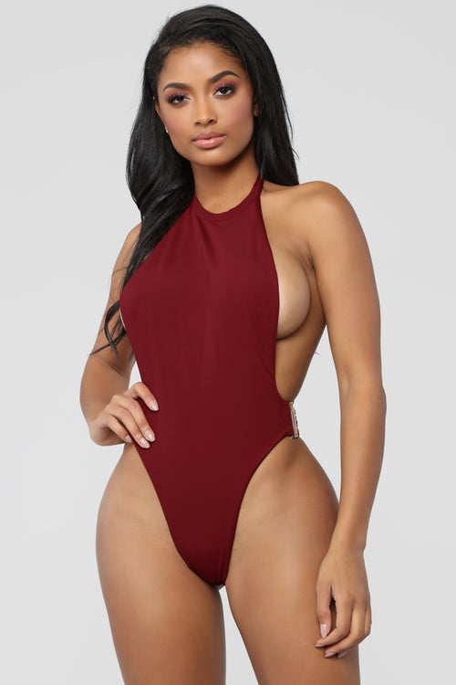 It's An Obsession Swimsuit - Burgundy