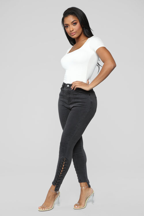 Janis High Rise Skinny Jeans - Black